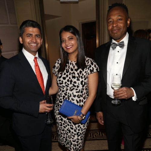 Pavan Cheruvu CEO of Axovant, Deepu Maddera Foundation Medicine, Herriot Tabuteau CEO Axsome